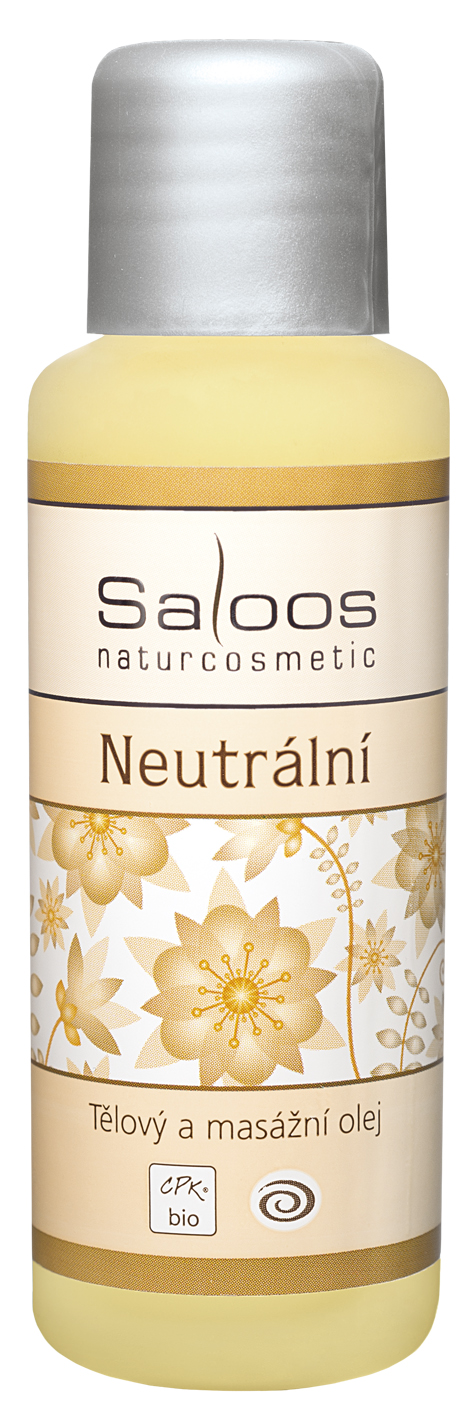 Neutrální tělový a masážní olej Saloos